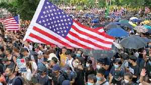 News video: Hong Kong protesters chant 'USA! USA!' in march on US Consulate