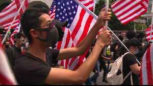 Hong Kong protesters march to US consulate calling for support [Video]
