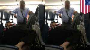 Man stands for 6 hours on flight while wife passes out on 3 seats [Video]