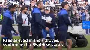 Argentina's football legend Diego Maradona makes comeback as new coach of La Plata's Gimnasia club [Video]