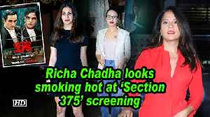 Richa Chadha looks smoking hot at 'Section 375' screening [Video]