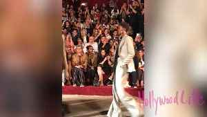 Ashley Graham Shows Baby Bump During NYFW Walk [Video]