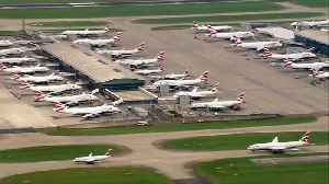 News video: Flights cancelled as British Airways pilots stage first strike