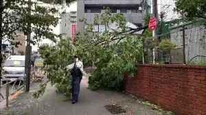 Un muerto y decenas de heridos por el paso de un nuevo tifón en Japón [Video]