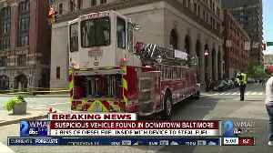 Suspicious vehicle found in Downtown Baltimore [Video]