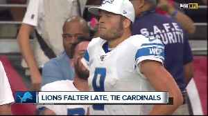 Lions disappointed with overtime tie with Cardinals [Video]