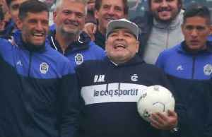 Homecoming welcome for Maradona as new coach for Argentine club Gimnasia y Esgrima [Video]