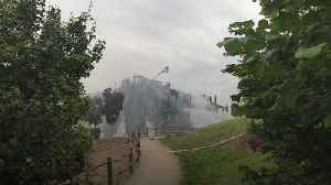 Block of flats destroyed by fire in south-west London [Video]