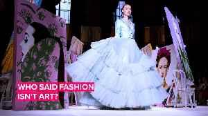 Christian Siriano brings Gaga, Laverne Cox & Frida Kahlo to his runway [Video]