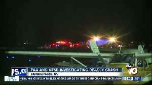 News video: FAA, NTSB investigating after plane registered in San Diego crashes in Nevada