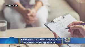 News video: One Person Dies Every 40 Seconds From Suicide, WHO Says