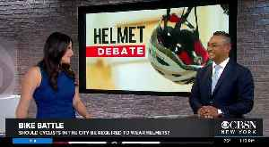 Debate Goes On Over Biking, Helmets And Rides Through New York City [Video]