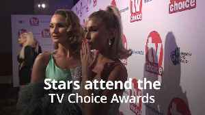 Stars attend the TV Choice Awards [Video]