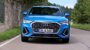 The new Audi Q3 Sportback in Turbo Blue Driving Video [Video]