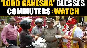 Rajkot Traffic Police dressed as Lord Ganesha to raise traffic rules awareness | OneIndia News [Video]