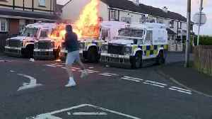 Petrol bombs thrown at police vans in Derry [Video]