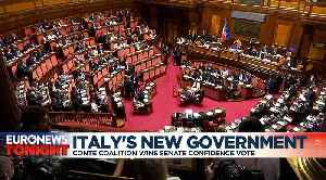 Italy's new government can get to work after getting senators' backing [Video]