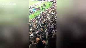 News video: Geaux crazy! New Orleans Saints fan can't contain excitement over monster Monday Night Football victory