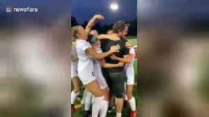 Pink card?! Hilarious moment grumpy college soccer coach fooled by genius gender reveal [Video]