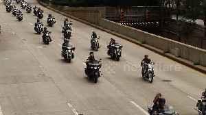 News video: Hundreds of motorbikes drive around New York City in 9/11 tribute