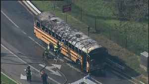 No Injuries Reported After School Bus Catches Fire in St. Louis [Video]