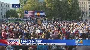 News video: Bernie Sanders Holds Campaign Rally At Denver's Civic Center Park
