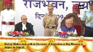 News video: Kalraj Mishra takes oath as Rajasthan Governor