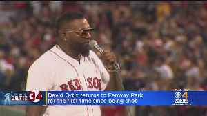 David Ortiz Returns To Fenway Park For First Time Since Being Shot [Video]