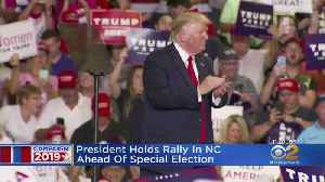 President Holds Rally In NC Ahead Of Special Election [Video]