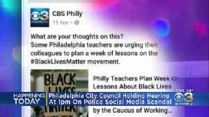 Philadelphia City Council Holding Hearing On Police Social Media Scandal [Video]