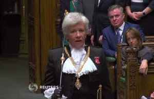 News video: British lawmakers push and shove as Parliament is suspended