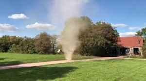 Dust tornado spins through National Trust property [Video]