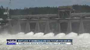 Broken Columbia River barge lock means commerce chokehold [Video]