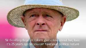 Sir Geoffrey Boycott 'couldn't give a toss' about knighthood criticism [Video]