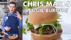 Chris Makes Veggie Burgers [Video]