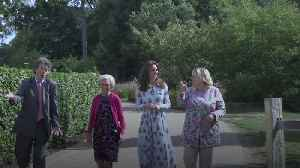 News video: Duchess of Cambridge and Mary Berry open family-friendly garden in Surrey