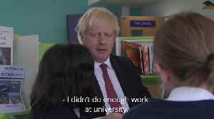 Boris Johnson visits school to launch Government education drive [Video]
