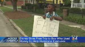 News video: Disney Rewards Boy Who Helped Dorian Victims