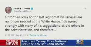 President Trump Fires National Security Advisor John Bolton [Video]
