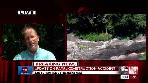 Construction worker killed after being struck by backhoe [Video]