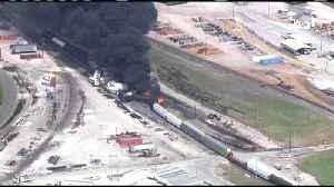 Freight Train Derailment And Fire Near St. Louis [Video]