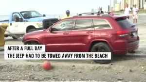 Owners of Jeep stuck on Myrtle Beach raising money for Hurricane Dorian victims [Video]