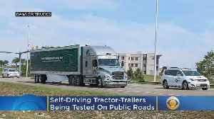 News video: Self-Driving Tractor-Trailers Are Being Tested On Public Roads