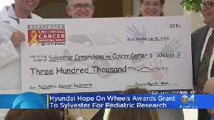 News video: Hyundai Hope On Wheels Awards Grant To Sylvester For Pediatric Research