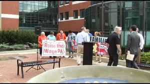 VIDEO People urge lawmakers to consider raising minimum wage during rally in Allentown [Video]