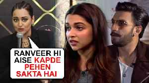 Sonakshi Sinha's EPIC Reaction On Ranveer Deepika's Crazy Fashion | Myntra Fashion Superstar [Video]