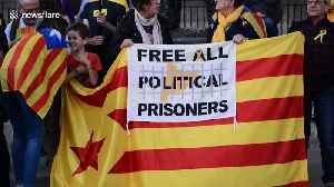 News video: Rally for Catalonia independence held in London
