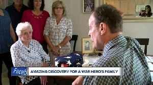 Historian reunites Kenosha war hero's family with piece of history [Video]