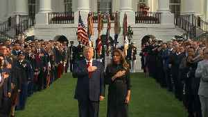 News video: Trump, first lady mark 9/11 moment of silence