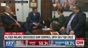Alyssa Milano talks to Cuomo about debating Ted Cruz on guns [Video]
